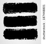 set of three black grunge... | Shutterstock .eps vector #187448801