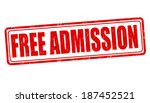 free admission grunge rubber... | Shutterstock .eps vector #187452521