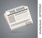 newspaper illustration.... | Shutterstock .eps vector #187453565