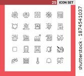 25 thematic vector lines and...