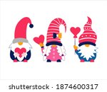 cute valentine's gnomes holding ... | Shutterstock .eps vector #1874600317