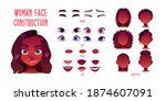 woman face constructor  avatar... | Shutterstock .eps vector #1874607091