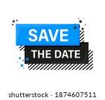 save the data megaphone blue... | Shutterstock .eps vector #1874607511