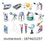 astronomy isometric recolor set ... | Shutterstock .eps vector #1874621257