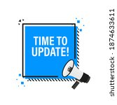 time to update blue label on... | Shutterstock .eps vector #1874633611