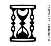 hourglass icon | Shutterstock . vector #187463537