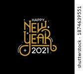 happy new year 2021 with... | Shutterstock .eps vector #1874639551