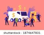 armed cash in transit guard...   Shutterstock .eps vector #1874647831