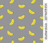 cute cartoon kawaii bananas... | Shutterstock .eps vector #1874659354