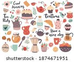 teatime element set  cups ... | Shutterstock .eps vector #1874671951
