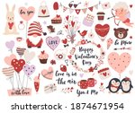 valentine s day element set ... | Shutterstock .eps vector #1874671954