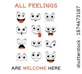 all feeling are welcome here.... | Shutterstock .eps vector #1874673187