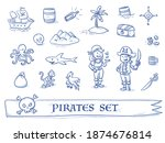 Cute Pirate's Icon Set  With...