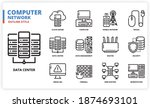 computer network icon set for... | Shutterstock .eps vector #1874693101