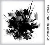 grunge background  | Shutterstock .eps vector #187469681