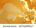 amber and honey geode. marble... | Shutterstock .eps vector #1874698567