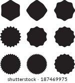 set of stamp  | Shutterstock .eps vector #187469975