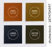 vintage plate music album...   Shutterstock .eps vector #1874704597