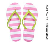 summer flip flops isolated on... | Shutterstock . vector #187471349