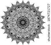 mandalas for coloring book.... | Shutterstock .eps vector #1874721727
