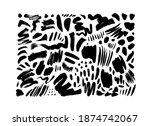 black dry brushstrokes hand... | Shutterstock .eps vector #1874742067