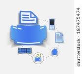set of sticker design. high... | Shutterstock .eps vector #187475474