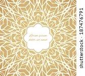 mosaic ornamental frame ... | Shutterstock .eps vector #187476791