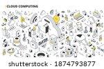 cloud computing concept.... | Shutterstock .eps vector #1874793877