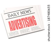 newspaper advertising | Shutterstock . vector #187480655