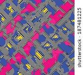 abstract ornate irregular ... | Shutterstock . vector #187481225