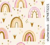 watercolor seamless pattern...   Shutterstock . vector #1874873221