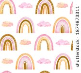 watercolor seamless pattern...   Shutterstock . vector #1874873311
