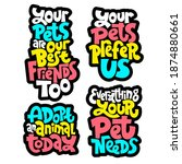 sticker template with unique... | Shutterstock .eps vector #1874880661