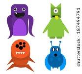 Monsters Vector Illustration