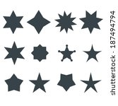 Stars Vector Shapes Set