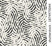 ink drawn zebra stripes...   Shutterstock .eps vector #1874975044