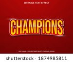 Champions Text Effect With Bold ...