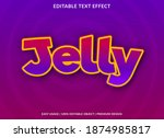 jelly text effect with cartoon...   Shutterstock .eps vector #1874985817