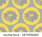 geometric floral seamless... | Shutterstock .eps vector #1874986804