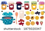 jam  jelly  fruits set isolated ... | Shutterstock .eps vector #1875020347