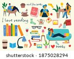 read the book. set of different ... | Shutterstock .eps vector #1875028294