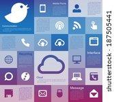 flat design interface icon set... | Shutterstock .eps vector #187505441