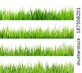 fresh spring green grass... | Shutterstock .eps vector #187508201
