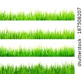 fresh spring green grass... | Shutterstock .eps vector #187508207
