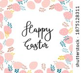 happy easter text in square... | Shutterstock .eps vector #1875128311