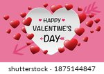 happy valentine's day white red ... | Shutterstock .eps vector #1875144847