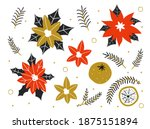 winter plants. new year red...   Shutterstock .eps vector #1875151894