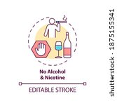 no alcohol and nicotine concept ... | Shutterstock .eps vector #1875155341