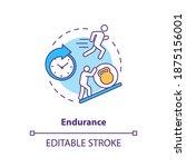 Enhance Endurance Concept Icon. ...