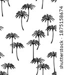realistic palm trees... | Shutterstock .eps vector #1875158674